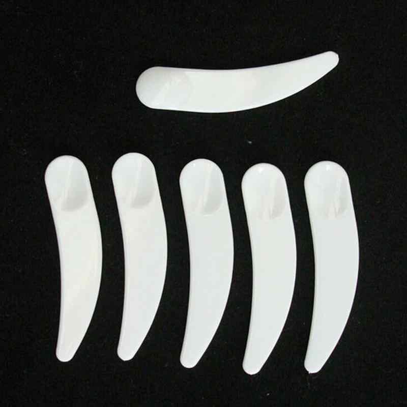 50 Pcs/lot Mini Kosmetik Spatula Sendok Makeup Maquillage Alat Sekali Pakai Masker Putih Sendok Plastik Grosir