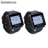 Retekess 2 pcs T128 433.92 MHz Horloge Ontvanger Vibrerende voor Draadloze Oproepsysteem Kelner Oproep Pager Restaurant Apparatuur