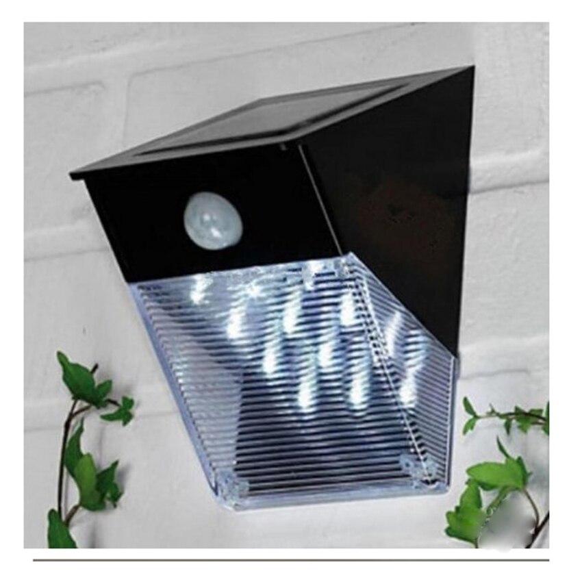 10 יחידות אינפרא אדום אינדוקציה גוף אדם שמש 12LED מנורת גג מנורת קיר תאורת גינה חיצונית אור גדר קיר אור