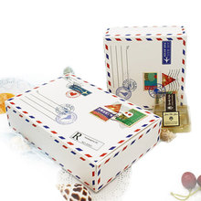 100 Pcs Wedding Gift Box Envelope Home Party Birthday Kraft Paper Packaging Candy Cookies Chocolate Maccaron Cup Cake