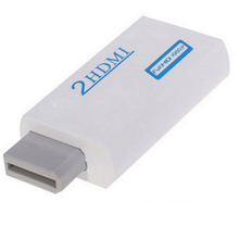 10pcs a lot New For Wii to for HDMI Adapter Converter Support 720P1080P  3.5mm Audio For HDTV