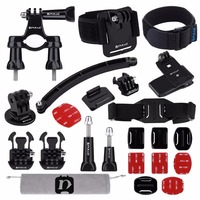 24 in 1 Bike Mount Accessories Combo Kits for GoPro HERO7/6 /5 /5 Session /4 Session /4 /3+ /3 /2 /1 for Action Video Camera