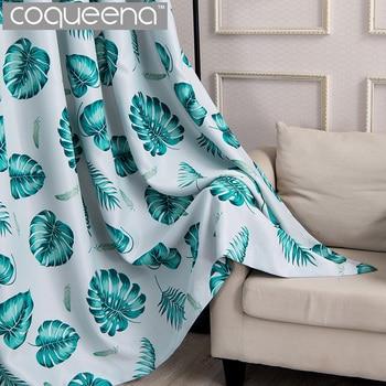 Cortinas Tropicales.Nuevo Hojas Tropicales Cortinas Para Sala De Estar Dormitorio Listo