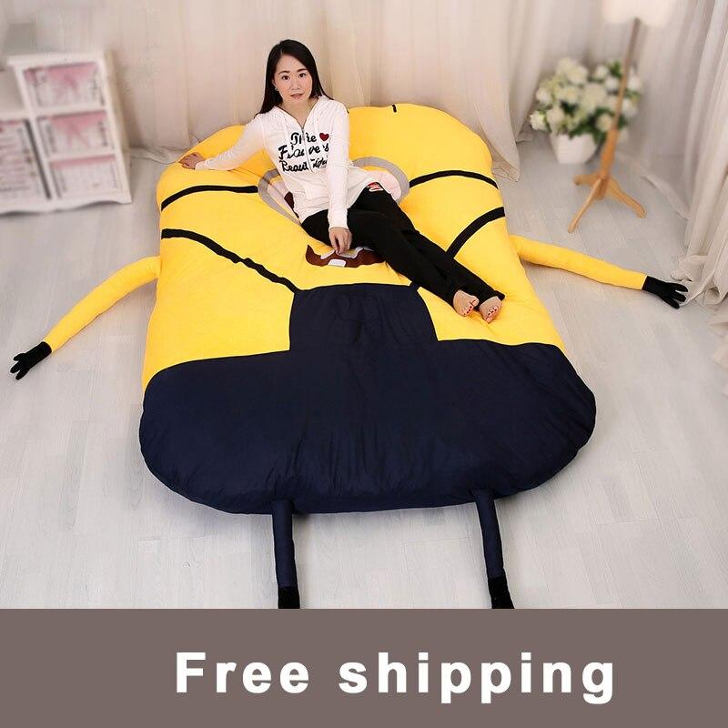 gro e matelas minions einzel und doppel bett riesen stofftier matratze kissen pl sch matratze. Black Bedroom Furniture Sets. Home Design Ideas