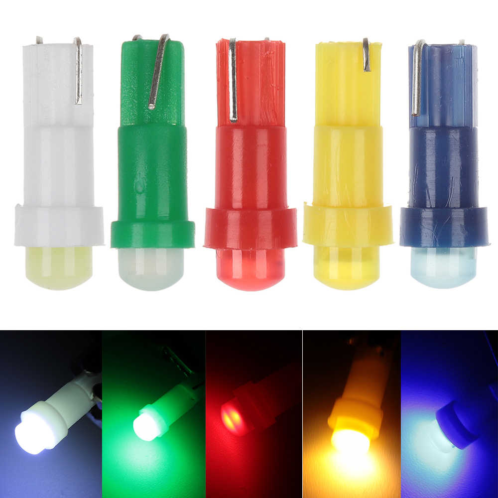 10PC 12V T5 Tongkol LED Mobil Dashboard Mengukur Instrumen Lampu Kecerahan Tinggi Mobil Interior Lampu Cluster Lampu Aksesoris