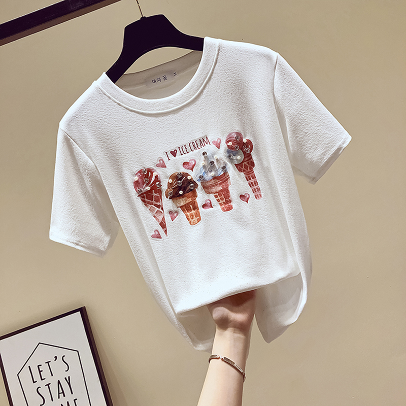 fashion Diamonds t shirt women tshirt cotton top camisetas verano mujer 2019 summer tops t-shirt women clothes tee shirt femme image