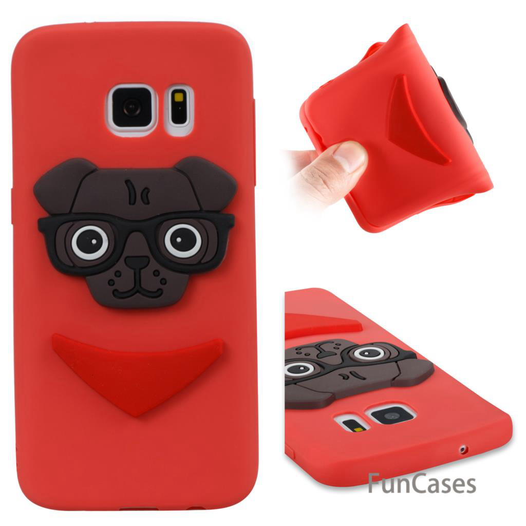 Cute Puppy Case sFor Carcasa Samsung S7 Soft Silicone Phone Case Capinhas Glossy Rhinestone Case sFor Samsung Galaxy S7 Marble