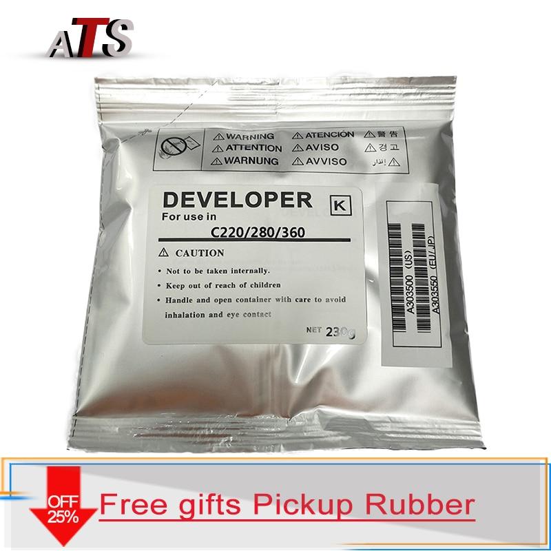 1set CMYK Developer powder For Konica Minolta C 220 280 360 226 256 266 compatible Copier parts C220 C280 C360 C226 C256 C266 Toner Powder     - title=
