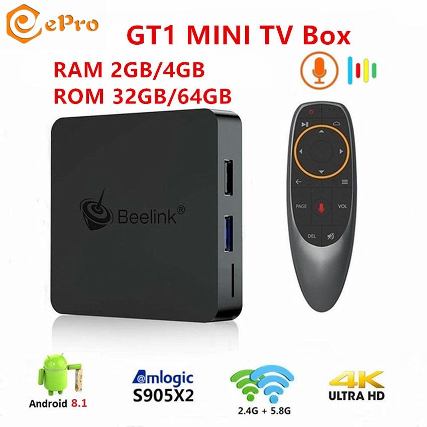 Beelink GT1 MINI Voice Control TV Box 4K Player Android 8.1 4GB+64GB Dual WiFi