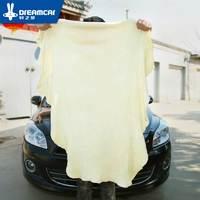 Сушка для очистки Полотенца из натуральной кожи замша Shammy губка ткань овчины абсорбент Полотенца стиральной машине