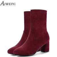 AIWEIYi Women S Shoes Plus Size Brand Shoes Woman Black Red Slip On High Quality Women