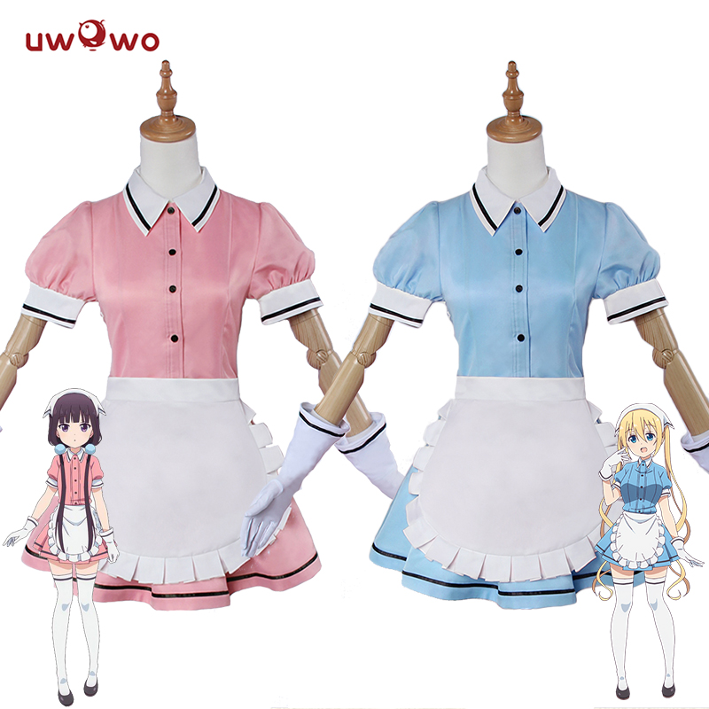 UWOWO Anime Blend S Cosplay Sakuranomiya Maika Cosplay Kaho Hinata Costume Women Stile Cafe Sadistic Maid Costume Blend S