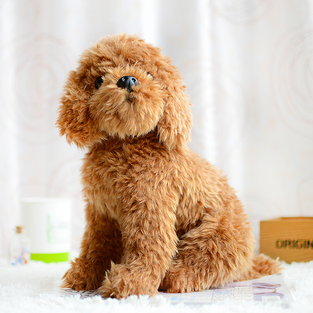 Teddy Dog Kids Plush Toys Brown Simulation Lovely Children Gifts