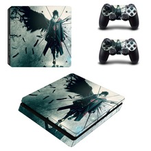 Anime Naruto PS4 Slim Skin Sticker Decal Vinyl for Sony Playstation 4 Console and 2 Controllers PS4 Slim Skin Sticker