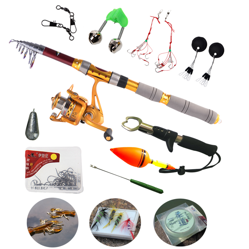 Top quality carbon telescopic fishing rod with fishing for Fishing rod accessories