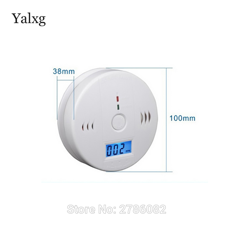 Home Security Alarm System Smoke Detector Battery Operated CO Carbon Monoxide Aralm With Display Screen golden security lpg detector wireless digital led display combustible gas detector for home alarm system