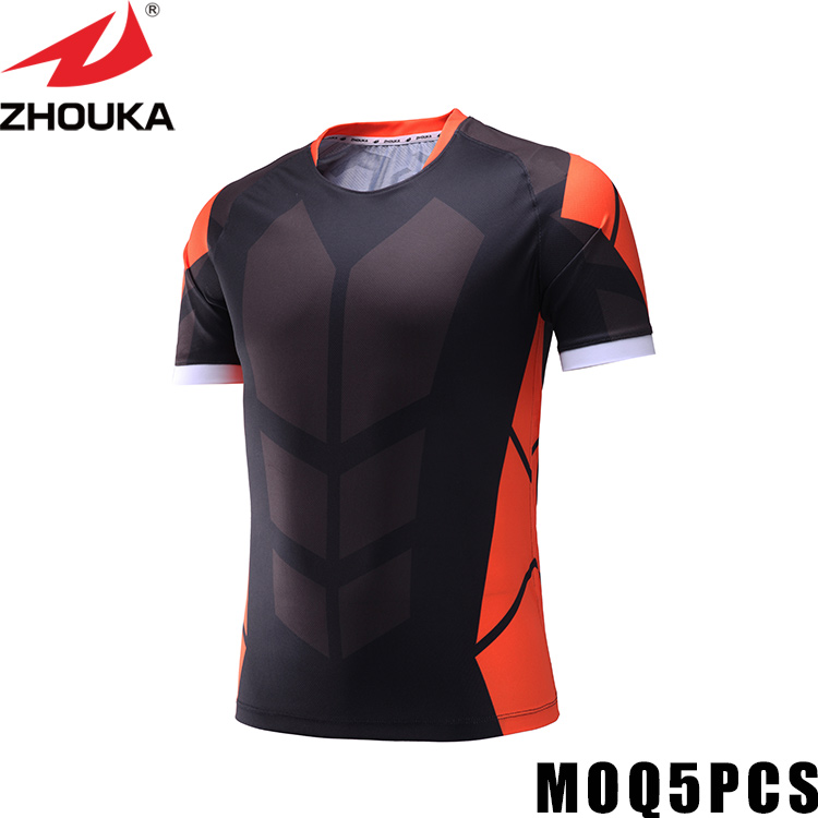Livraison gratuite livraison rapide faire votre propre maillot de football respirant une épaule t-shirt football t-shirt fabricant maillot de football