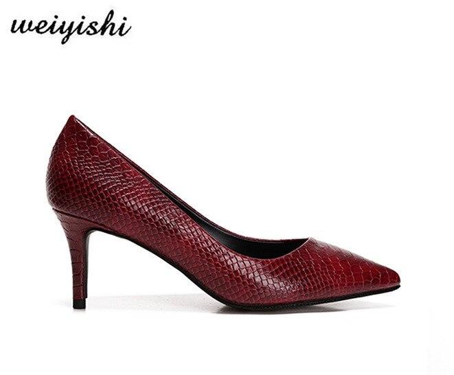 2018 Schuhe Neue Marke Dame Schuhe Mode Weiyishi 027 Frauen rqr1xnBwCW