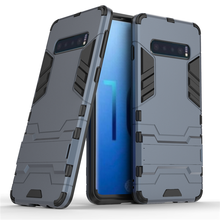 For Samsung Galaxy S10 Case Luxury Robot Hard Back Phone Cover Coque Fundas