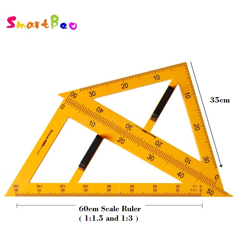 Large Triangular Ruler Set With Magnet