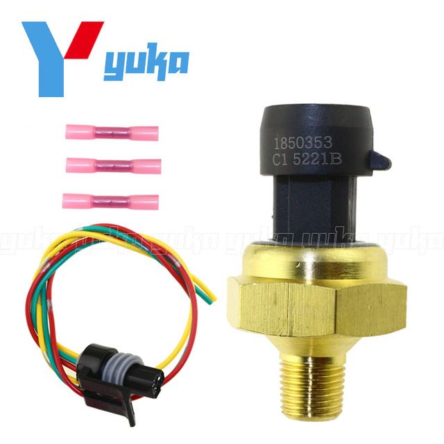 EGR Exhaust Back Pressure Sensor EBP Transducer 1850353C1 For Ford Powerstroke 97 04 With Pigtail