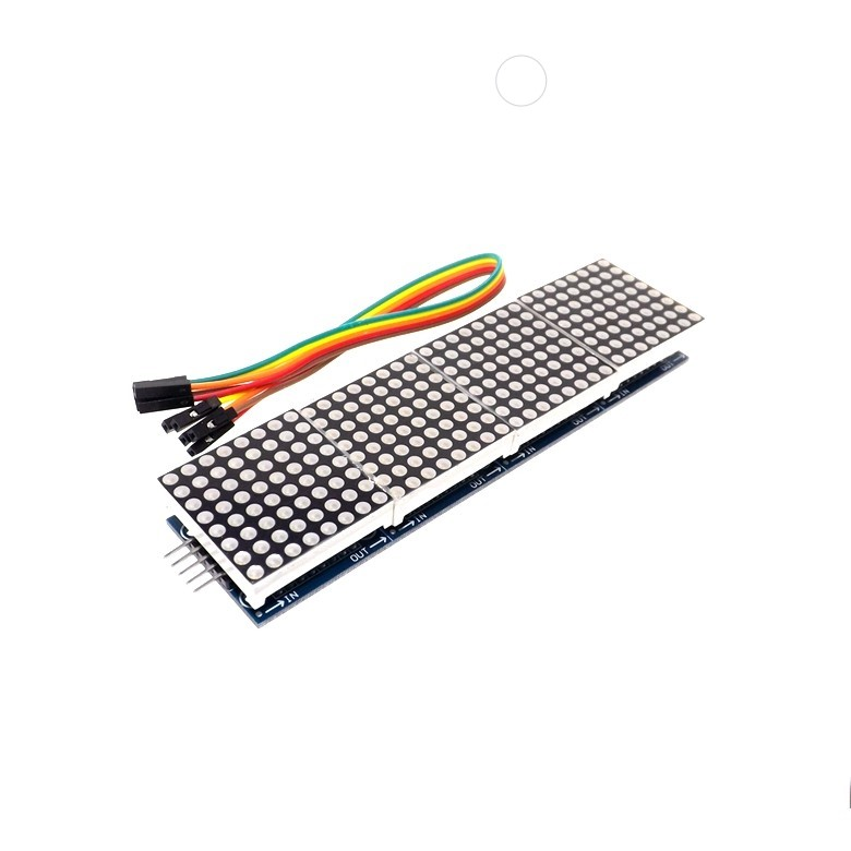 thinary electronic max7219 dot matrix module for arduino microcontroller 4 in one display with
