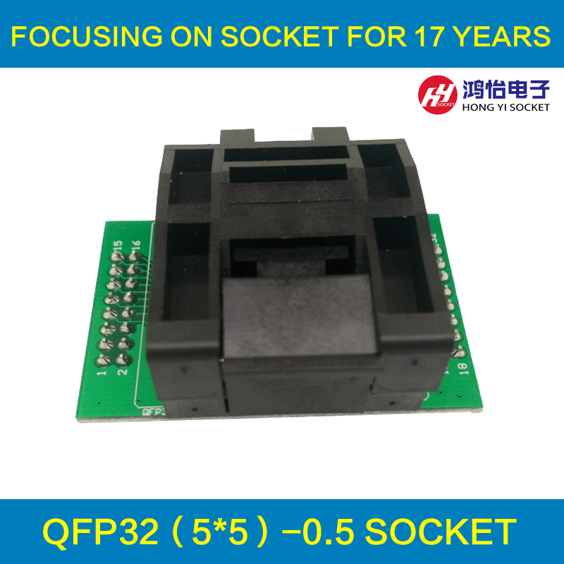 все цены на QFP32 TQFP32 LQFP32 to DIP32 Universal Programming Socket Pitch 0.5mm IC Body Size 5x5mm Test Adapter Programmer онлайн