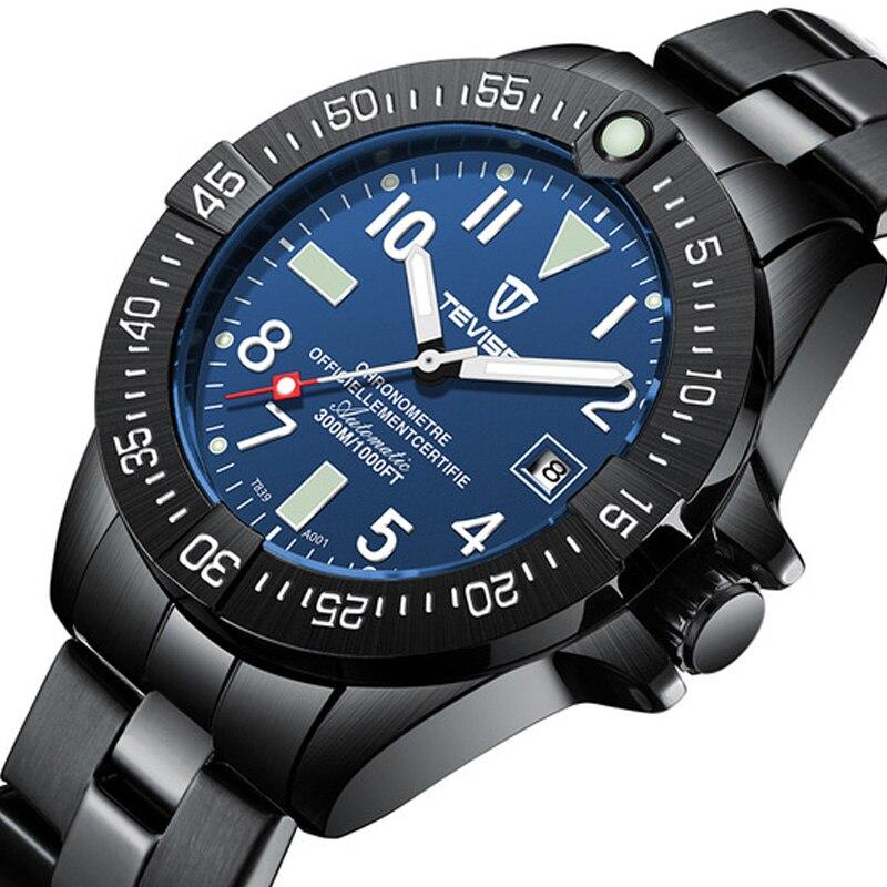 Business Men Automatic Mechanical Watch TEVISE Calendar Time Display Fashion Luminou Hands 3ATM Waterproof Male Wristwatch|Mechanical Watches| |  - title=