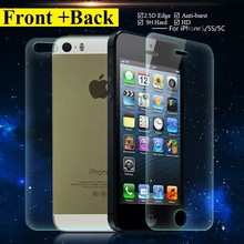 5S 0 26mm Screen protective Film 2 pcs lot Front Back for iPhone SE 5s 5c