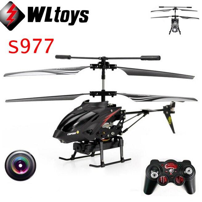 Wltoys S977 3.5 CH Radio Metal helicóptero de Control remoto Gyro RC Quadcopter