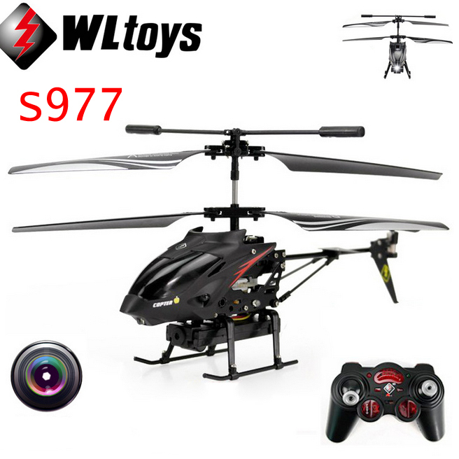 Wltoys S977 3.5 CH Radio Remote Control Helicopter Metal Gyro RC Quadcopter With Camera Electronic Toy Professional Mini Drones jacqueline for set kit accessories for sony action cam hdr as200v as30v as100v as20 az1 mini fdr x1000v w 4 k for yi action cam
