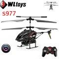 Wltoys S977 3.5 CH controle remoto de rádio helicóptero de Metal giroscópio RC Quadcopter com câmera de brinquedo profissional Mini Drones