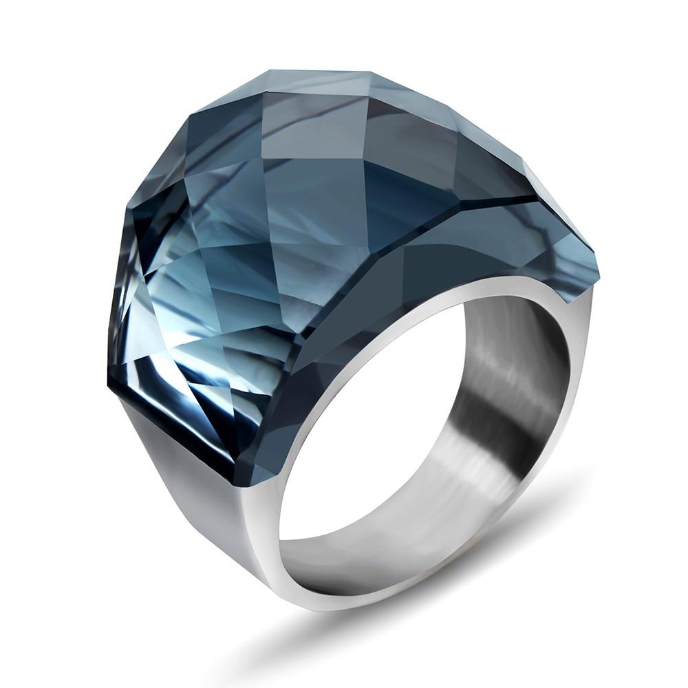 0cd7d929a50b Al por mayor 316L Acero inoxidable mujeres anillo de boda para fiesta  accesorios moda joyería proveedor