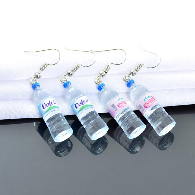 Vivid Little Mineral Water Bottle Pendant Silver Color