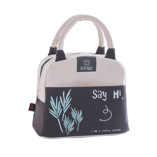 Convenient Thermal Insulation Eco-Friendly Canvas Lunch Bag
