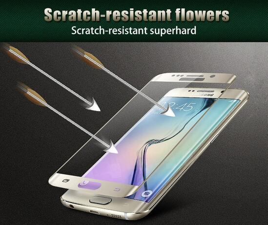 Untuk Samsung Galaxy S6 Tepi S7 S7 Tepi Kaca Tempered 3D Melengkung - Aksesori dan suku cadang ponsel - Foto 2