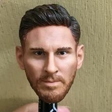 Custom 1/6 Scale Lionel Messi Head Sculpt Barcelona Soccer for 12 HotToys PHICEN Male Figure