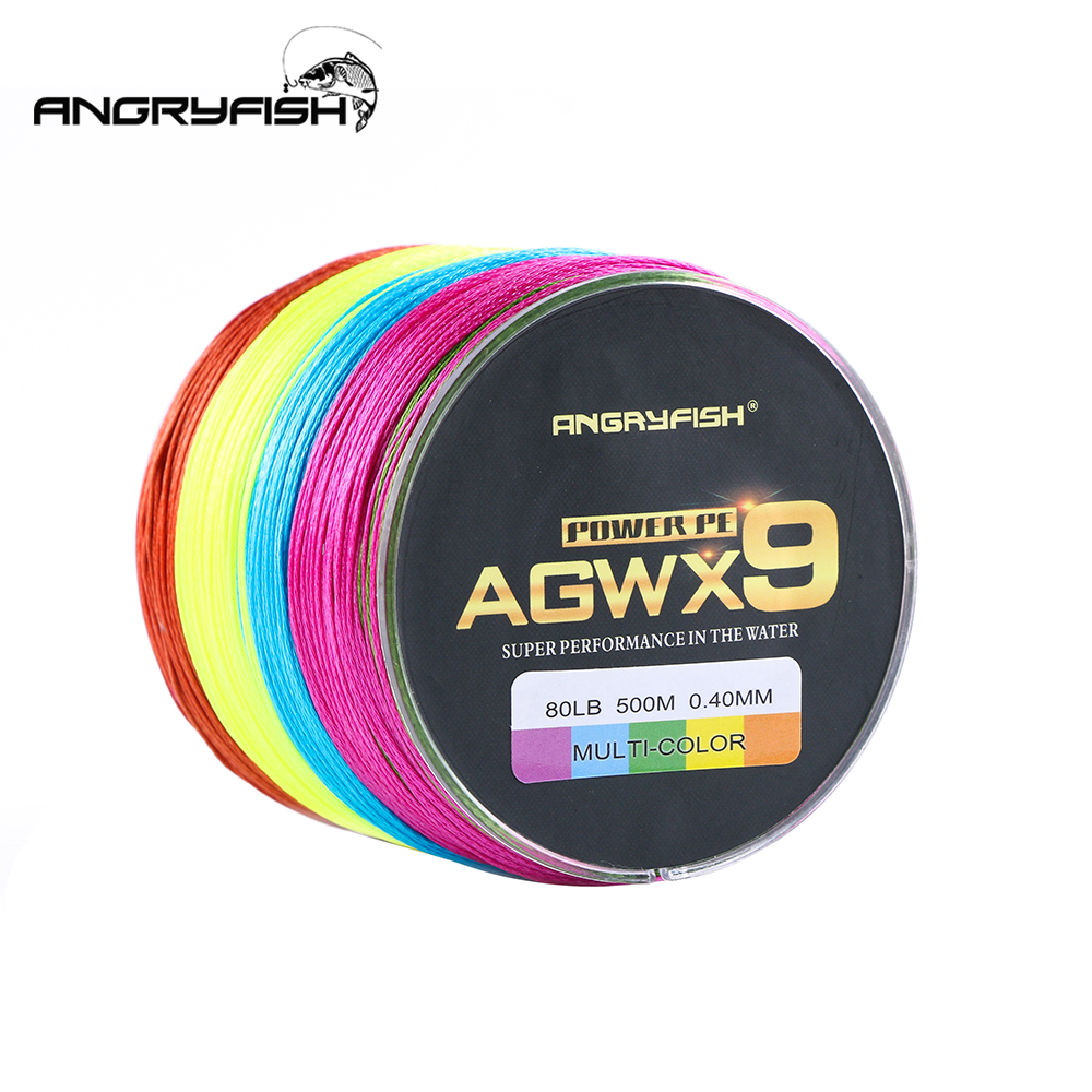 Image 5 - Angryfish 500M 9 Strands Super Multicolor PE Braided Fishing Line Strong Strength Fish Line-in Fishing Lines from Sports & Entertainment