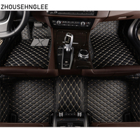 zhoushenglee Custom For Ford Focus 2 3 2005 2006 2012 2013 2014 2016 2017 2018 Car Floor Mats Covers Leather Interior Auto mat