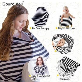 comprar popular bd02c 3c10b Cubierta de asiento de coche para bebé, funda de lactancia para niño,  Canpony, bufanda Infinity multiuso, para lactancia, envío de fundas para  sillas ...