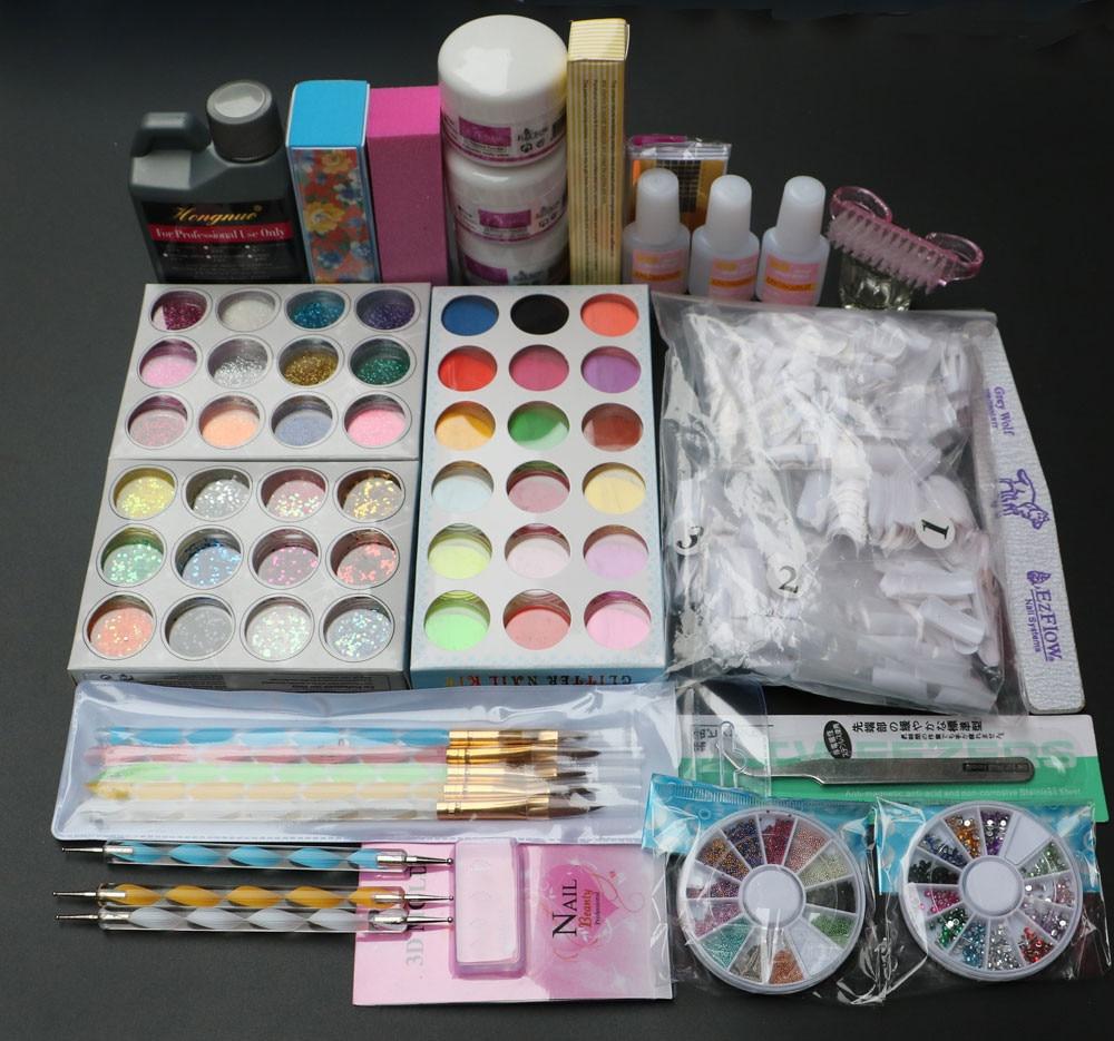 Professionell 42 akrylvätskepulver Glitter Clipper Primer Fil Nail - Nagel konst - Foto 2