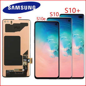 NEW ORIGINAL SUPER AMOLED S10 LCD For SAMSUNG Galaxy S10 G973F G973 S10 Plus G975 G975F Touch Screen Digitizer Assembly - Category 🛒 Cellphones & Telecommunications
