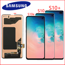 ORIGINAL SUPER AMOLED LCD For SAMSUNG Galaxy S10e G970 S10 Display G973 S10 Plus G975 G975F Touch Screen Digitizer Assembly