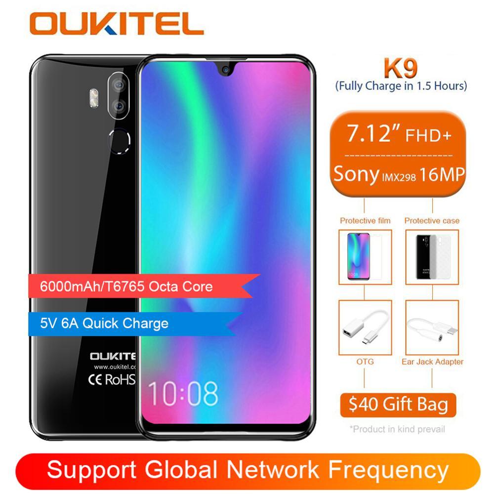 OUKITEL K9 Waterdrop 7 12 FHD 1080 2244 4GB 64GB Face ID Smartphone 16MP 2MP 8MP