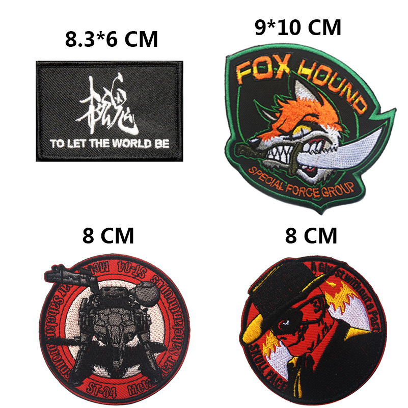 Embroidered US ARMY Special Force Group Fox Hound Skull Face Tactical USA Morale Cstume Applique Emblem Badge Hook & Loop Patch emblem