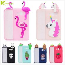 KL-Boutiques 3D Unicorn Cartoon Case For Samsung Galaxy J5 2016 J510 Fundas Fruits Cactus Flamingo Toys Soft Silicon Phone Cover