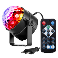 3W Mini RGB LED Stage Light 7 Colors Disco Ball Lumiere Sound Activated Club DJ Party