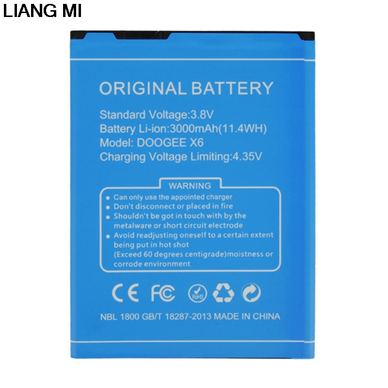 For DOOGEE X6 Battery High Quality 3000mAh Batterie Bateria Batterij for DOOGEE X6 Pro with phone stander for gift