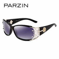 PZPOL9218 2015 PARZIN New Women Brand Designer Steampunk Sunglasses Black Coating Sun Glasses Retro Gafas De