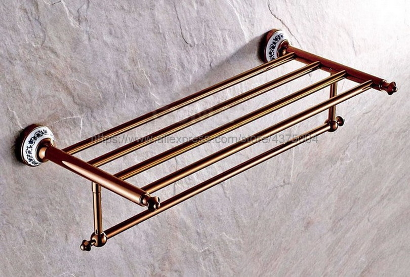 Rose Gold Color Toilet Towel Holder Towel Rack Shelf Solid Holder Brief Fixed Bathroom Accessory Nba383 цена 2017